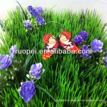 2014 hot sale cheap artificial grass carpet with flower