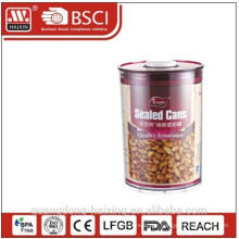 round plastic airtight canister