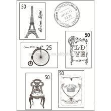 Coleção selo conjunto, scrapbook carimbo de borracha claro