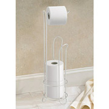 Interdesign Chromed Toilettenpapier Rollständer mit Halter