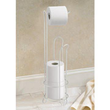 Interdesign Chromed Toilet Paper Roll Stand com titular