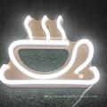 Wholesale coffee shop neon logo sign outdoor sign led flex custom neon logo