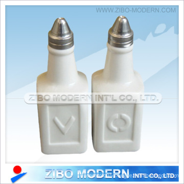 White Porcelain Oil Vinegar Set