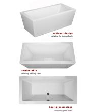 """1500mm 59 """"quadratische freistehende Badewanne"""