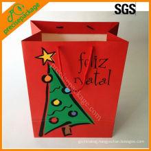 reusable custom kraft paper bag for christmas