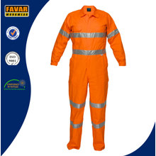 Men's Cotton Orange feuerhemmende reflektierende Tape Coverall