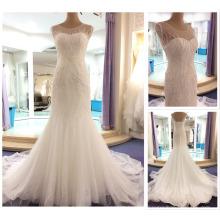 See Through Corset Full Crystal Long Custom Made Formal Bridal Gowns Design Robe De Mariee Mermaid Wedding Dresses 2016 P1002-1