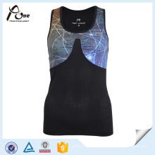 Las camisetas al por mayor del chaleco del gimnasio de las muchachas de la parte posterior del corredor atlético usan
