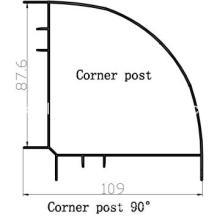 Sliding Door Aluminum Profile Corner Post
