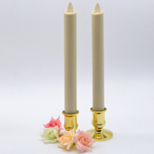 Ivory Realistic Flame luminara taper candle with timer