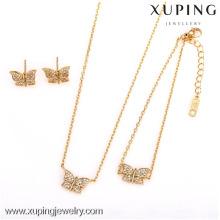62538-Xuping Charm Mesdames plus récent style 3 pièces papillon ensemble de bijoux