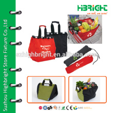 Single handle insulated foldable shopping basket