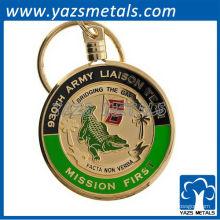 porte-clés millimétriques personnalisés en métal / porte-clés de l'équipe de liaison de l'armée / porte-clés militaires