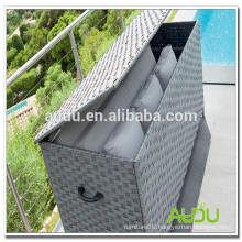 Rattan Waterproof Outdoor Cushions Storage Box