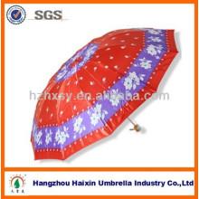 Guarda-chuva brilhante sortido do cetim da cor 12K para senhoras