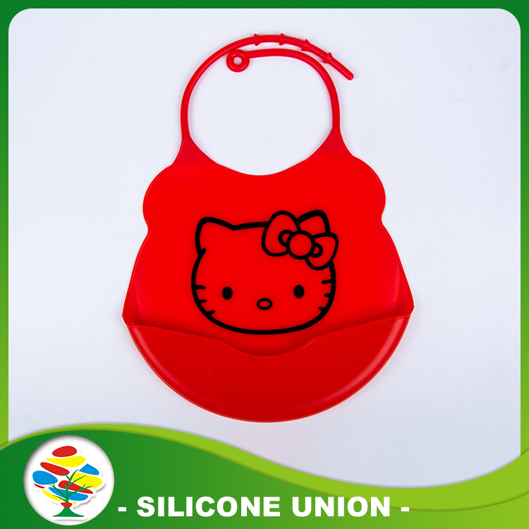 red Silicone Baby Bibs Waterproof