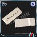 Titânio em branco titular do cartão de clipe de dinheiro