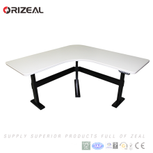 2018 big discount Single motor electric height adjustable stand up desk with lifting column