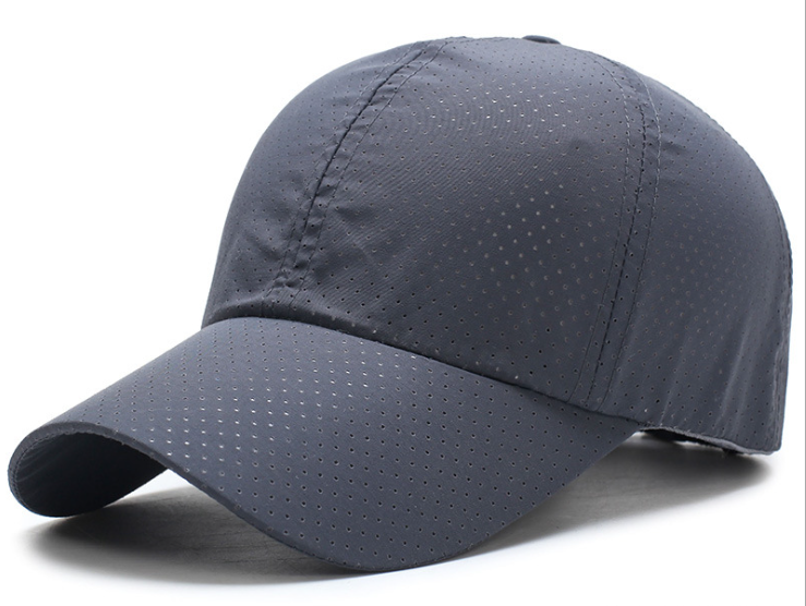 Full Hole Polyester Plain Cap Navy