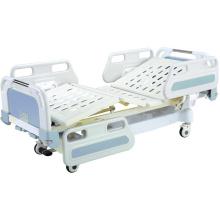 Cama de hospital movible central de bloqueo completo con cabeceras de ABS