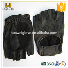 Personalized summer driver gloves leather fingerless men's car driving gloves