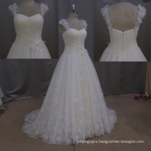 Backless Ivory Sweetheart Backless Elegant Simple Wedding Gown