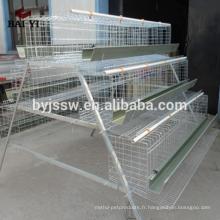A Cage à volailles de type 4 Cells 4 Tiers 128 Birds pour poules oeuf