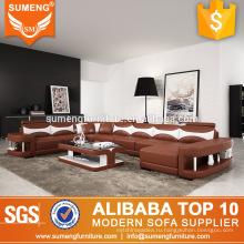 последний дизайн гостиной мебели яркие цветные итальянский кожаный диван набор