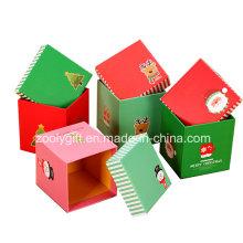 Cajas de regalo personalizadas de papel de impresión cuadrados de Navidad para el embalaje de Apple