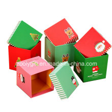 Customized Natal impressão quadrado papel caixas de presente para embalagem Apple