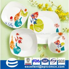 Suramérica favorita de vajilla de cerámica 16pcs porcelana cena conjunto fábrica al por mayor