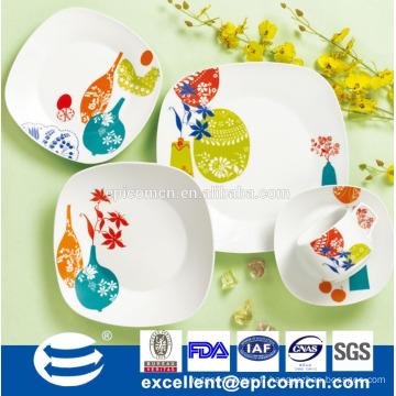 Vaisselle en céramique préférée sud-américaine 16pcs porcelaine ensemble de dîner en gros
