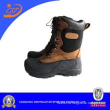 Botas de nieve para hombres, parte superior de cuero nobuck, botas de invierno para hombres