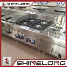 Garantía de calidad de la serie Furnotel 600 Gama de gas del equipo de cocina con 4 quemadores