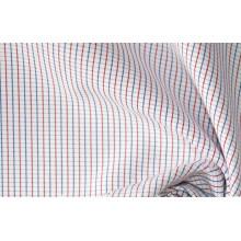 Красный/неф тонкие небольшие проверяет, окрашенная пряжа, ткани рубашек