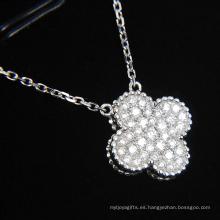 Joyería sintética de la forma de la flor del diamante de la manera