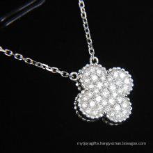 Fashion Synthetic Diamond Flower Shape Jewelry