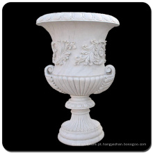 Pote de plantador de mármore branco China VFP-006L