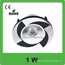 Garantie de 2 ans Lampe de panneau de plafond lumineuse 1W Led