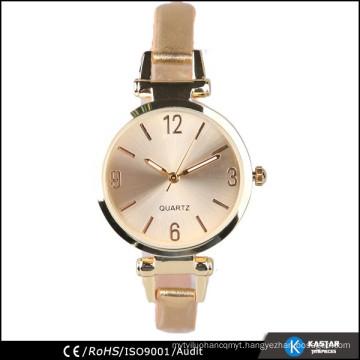 pu leather watch gold, watch strap