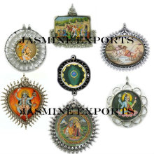 Indian Hand Painted Pendants