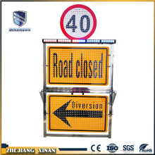electronic led message outdoor traffic warning board