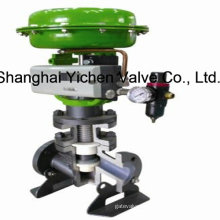 Pneumatic Fluorine Lined Single Seat Control Valve