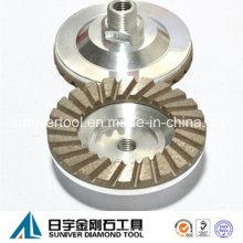 Diamante con autógena ruedas de la taza de Turbo para pulido de piedra