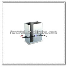 U173 Stainless Steel Double-pane Square Chopstick Container