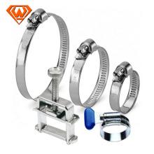 collier de serrage de tuyau de tuyau en acier au carbone industriel