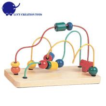 Детские дошкольные образовательные игры игрушки деревянные бисер проволоки лабиринт игрушка
