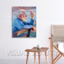 Retrato da pintura a óleo do retrato na lona