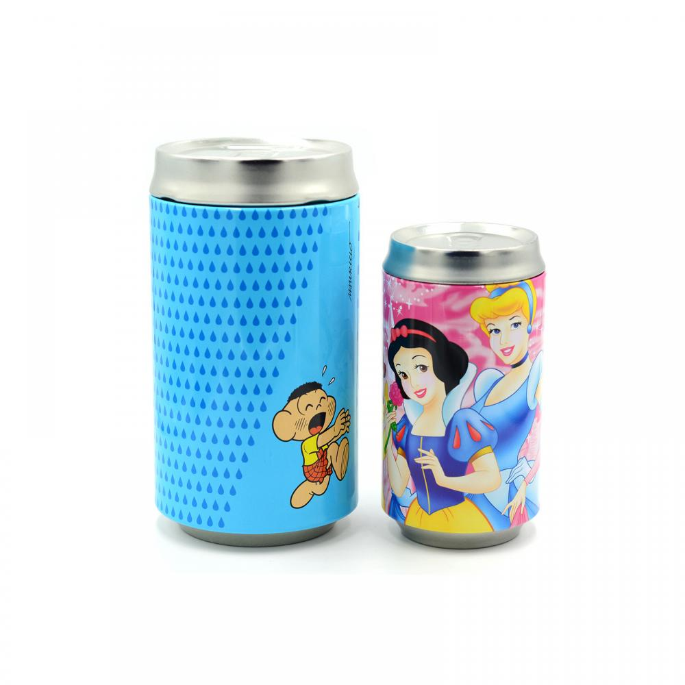 Round Cola Shaped Coin Container Tin Box