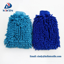 "14""x11"" microfiber double side chenille car cleaning glove"